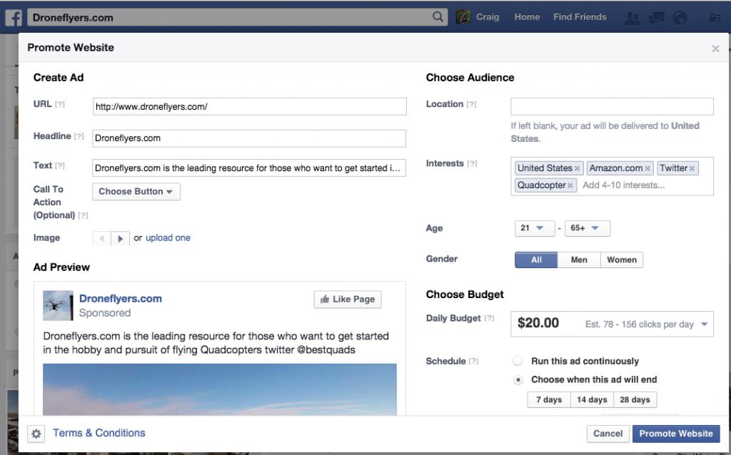 Promote Site (off Facebook)